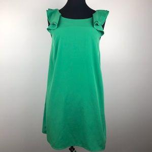 CeCe Green Ruffle Strap Mini Dress XS